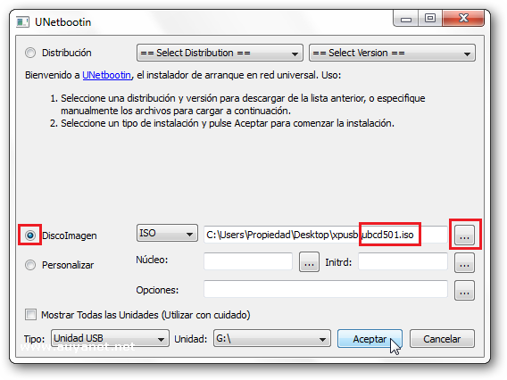 Ejecutar Ultimate Boot CD desde un Pendrive