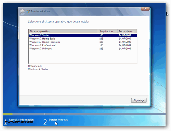 imagen iso windows 7 starter